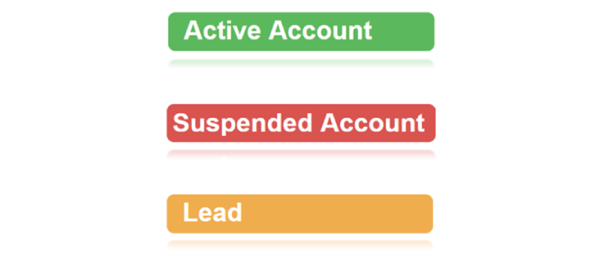 New Feature: Colour Coded Account Status and New Customer Information Tabs