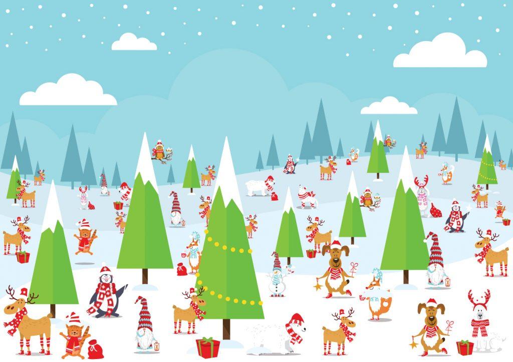 Count the number of hidden reindeer